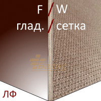 Ламинированная фанера 2440х1220 15 мм F/W (гл./сет.)