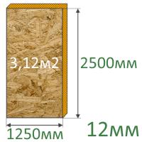 OSB-плита 2500x1250x12мм