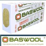 Базальтовая вата BASWOOL Лайт-45 1200х600х50 (6 плит)