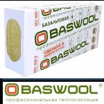 Базальтовая вата BASWOOL Лайт-45 1200х600х100 (6 плит)