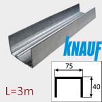 Профиль ПН-4 75/40 L=3м Knauf
