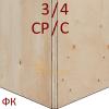 Фанера ФК 1525х1525 15мм сорт 3/4 НШ