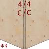 Фанера ФК 1525х1525 4мм сорт 4/4 НШ