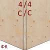 Фанера ФК 1525х1525 12мм сорт 4/4 НШ
